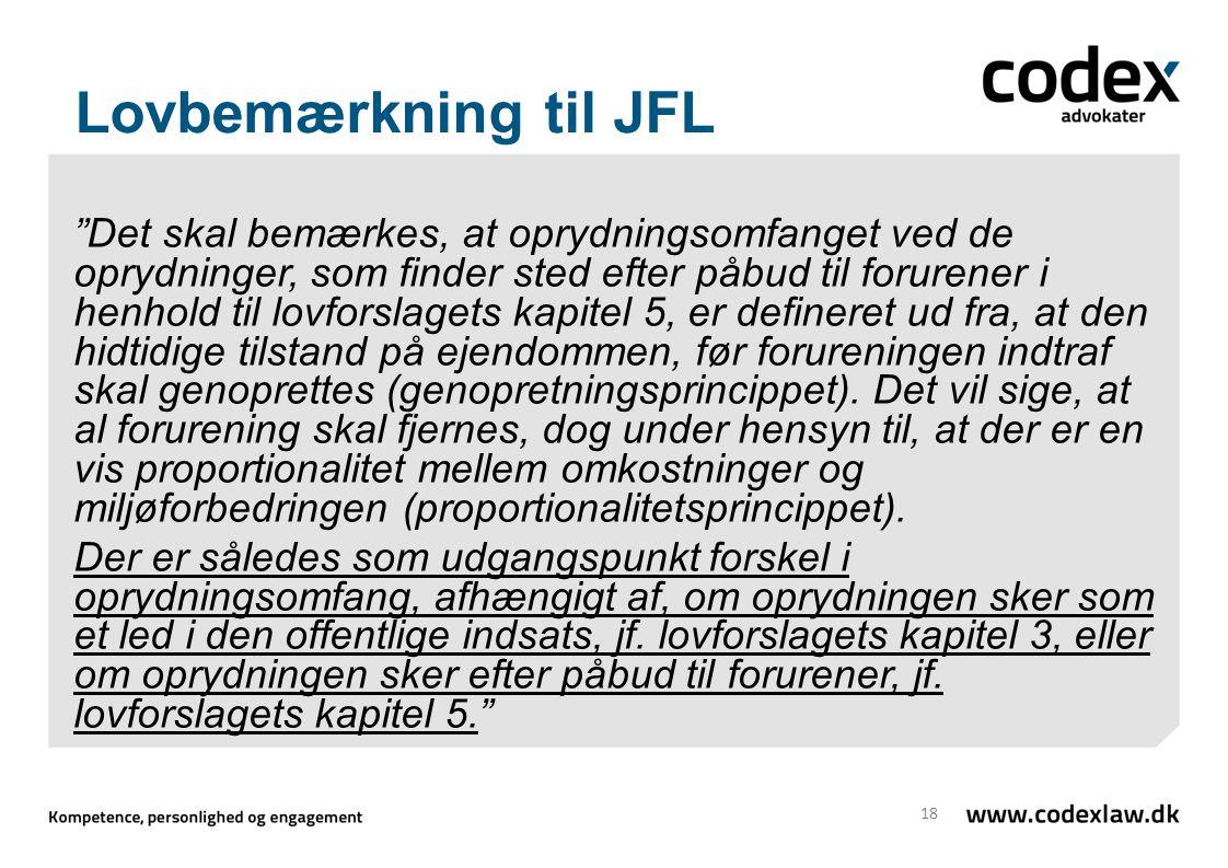 Lovbemærkning til JFL