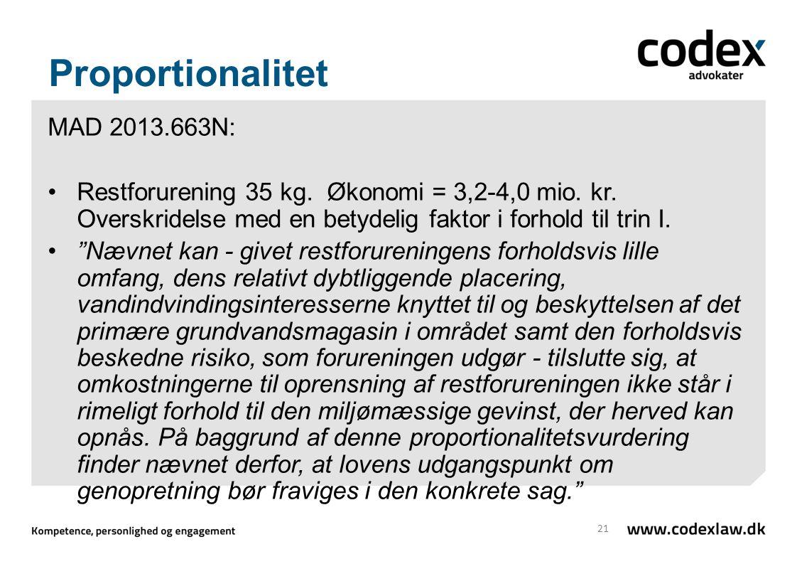 Proportionalitet MAD 2013.663N: