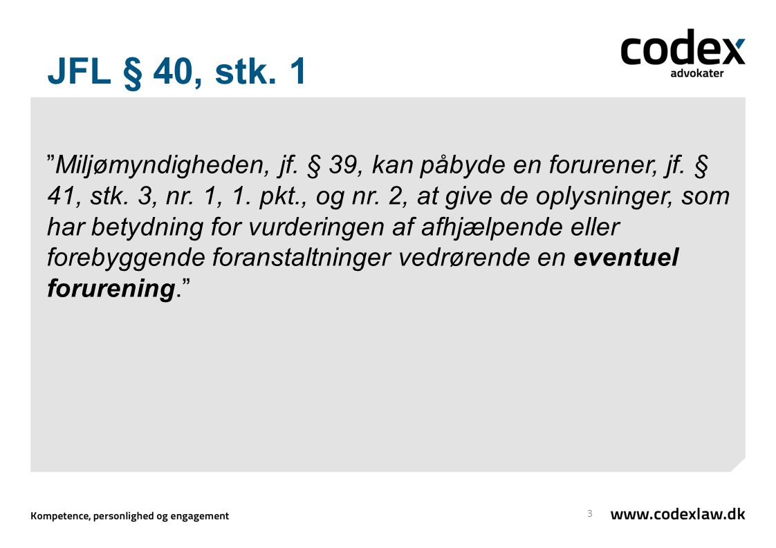 JFL § 40, stk. 1
