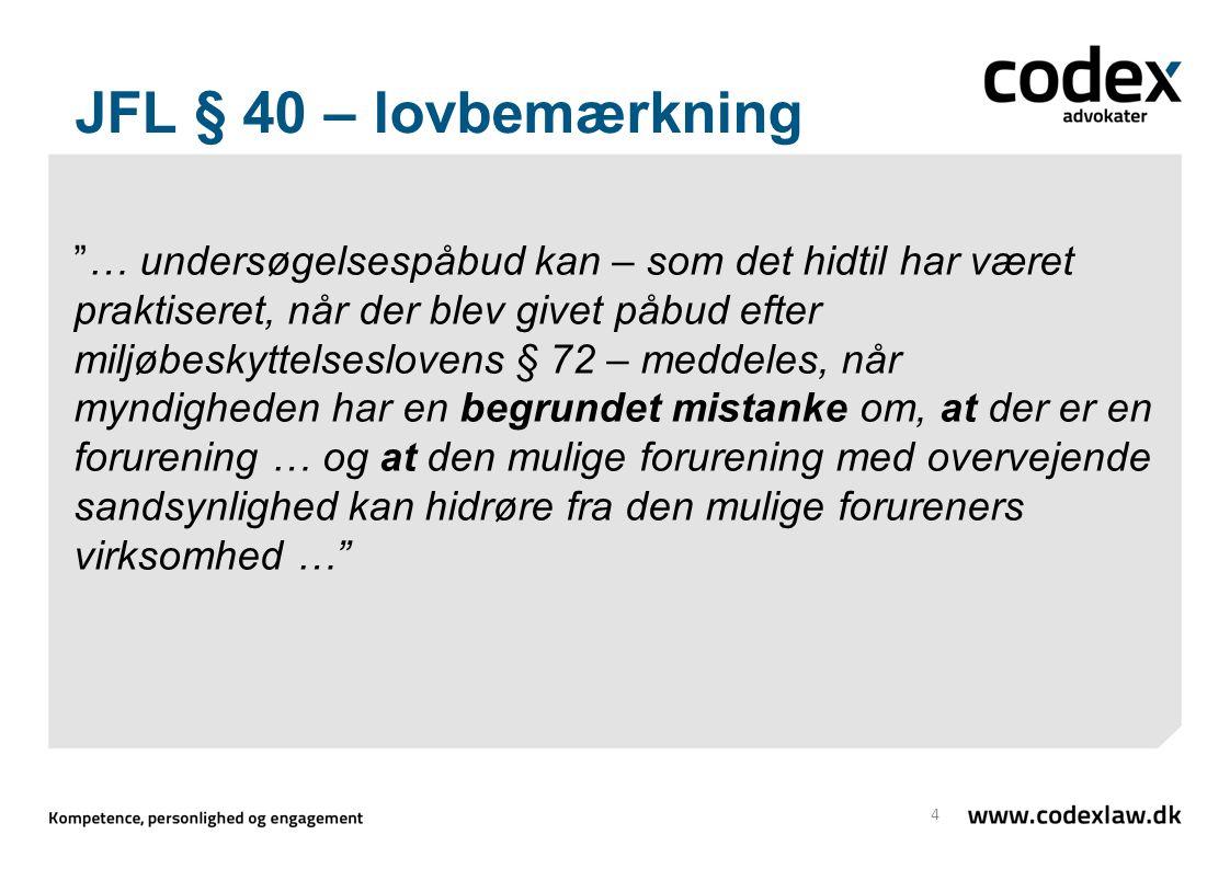 JFL § 40 – lovbemærkning