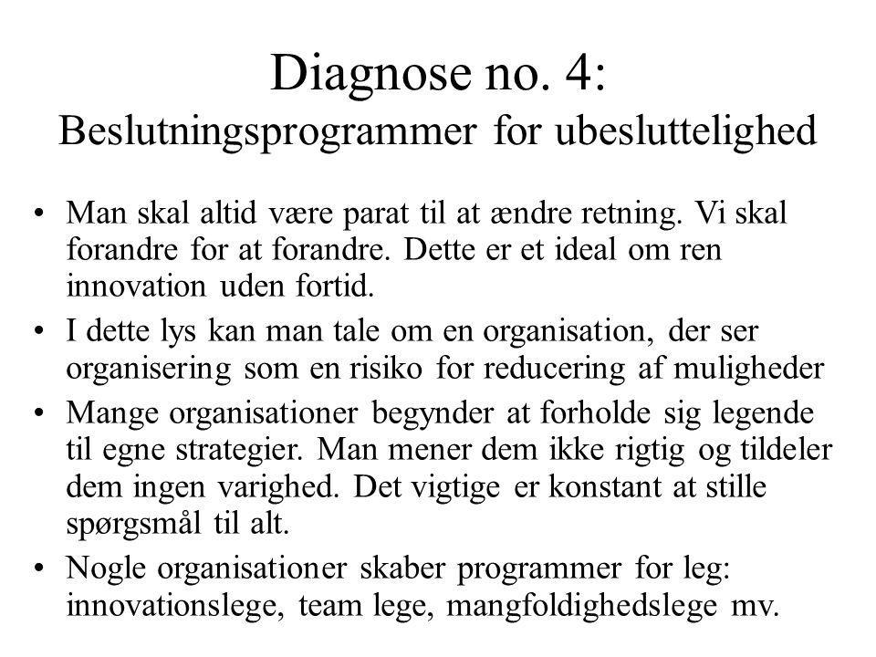 Diagnose no. 4: Beslutningsprogrammer for ubesluttelighed