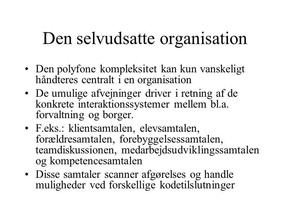 Den selvudsatte organisation
