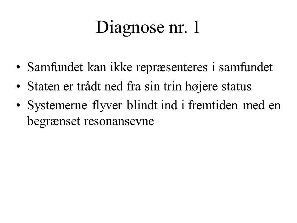Diagnose nr. 1 Samfundet kan ikke repræsenteres i samfundet
