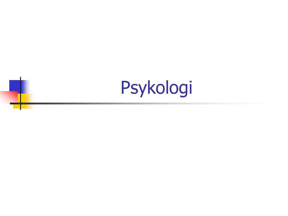 Psykologi