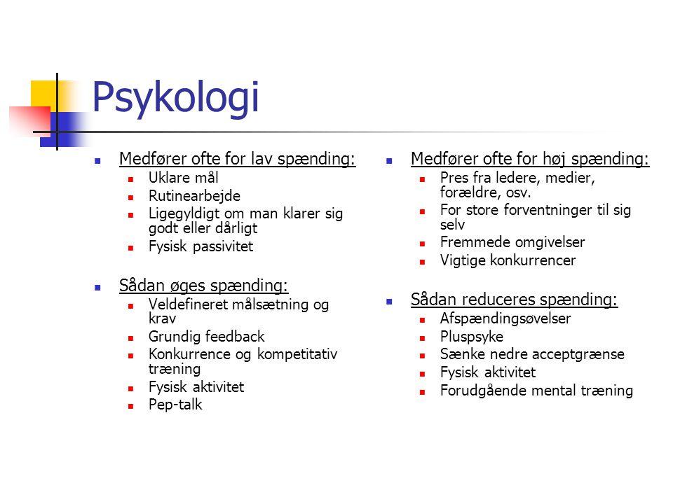 Psykologi Medfører ofte for lav spænding: Sådan øges spænding: