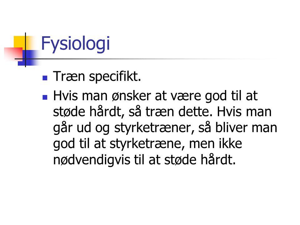 Fysiologi Træn specifikt.