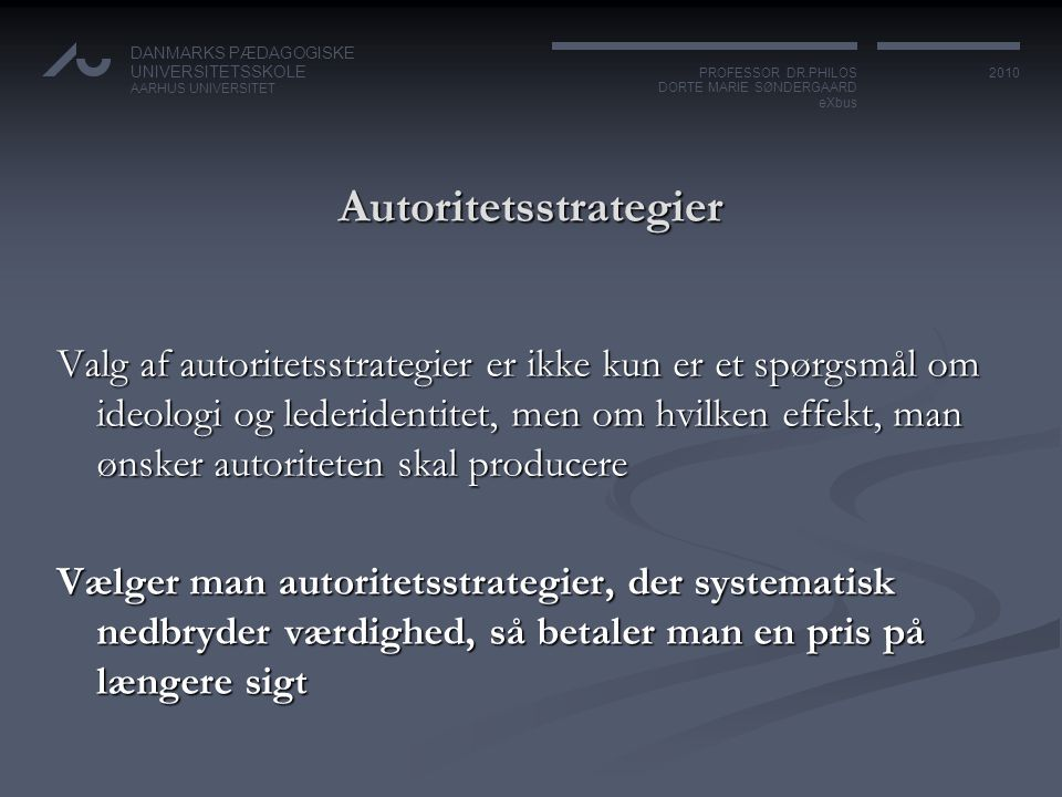 Autoritetsstrategier