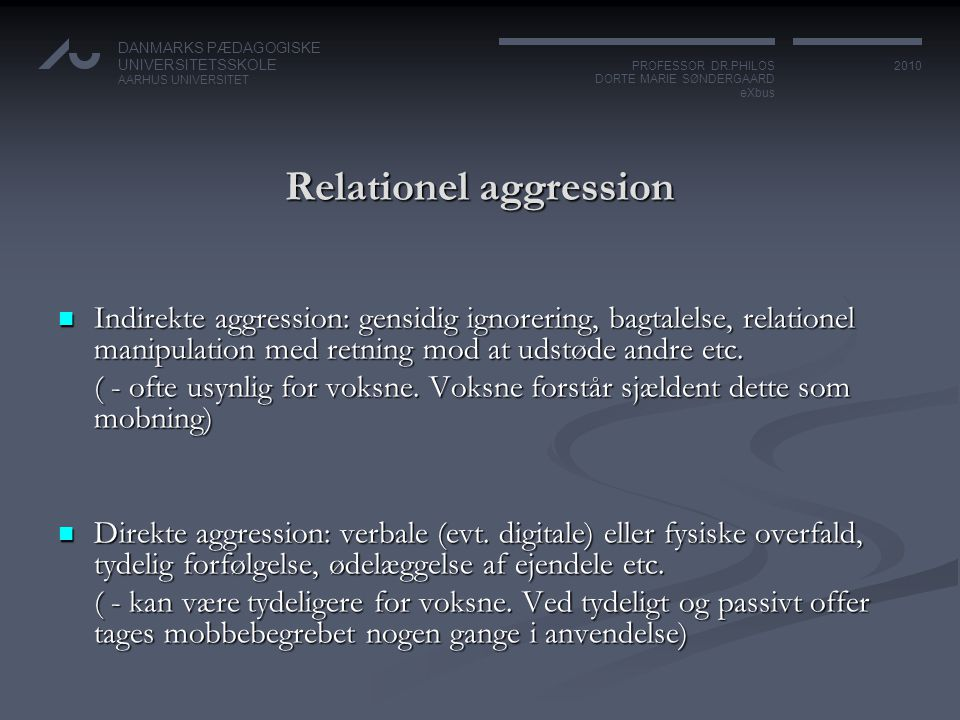 Relationel aggression