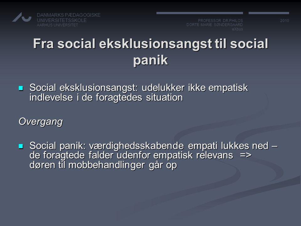 Fra social eksklusionsangst til social panik
