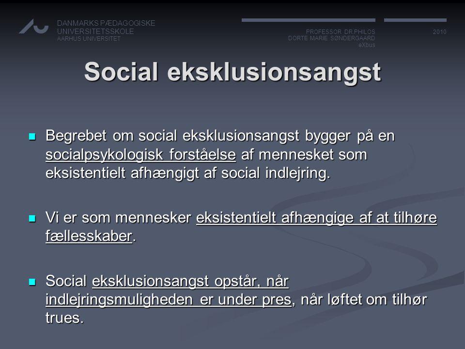 Social eksklusionsangst