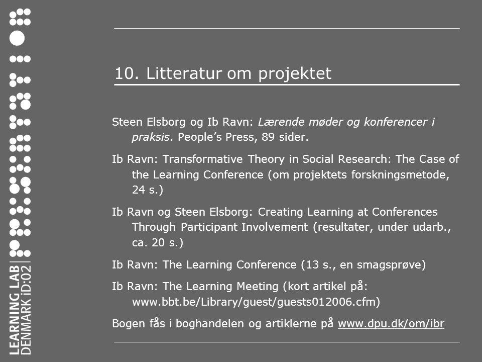 10. Litteratur om projektet