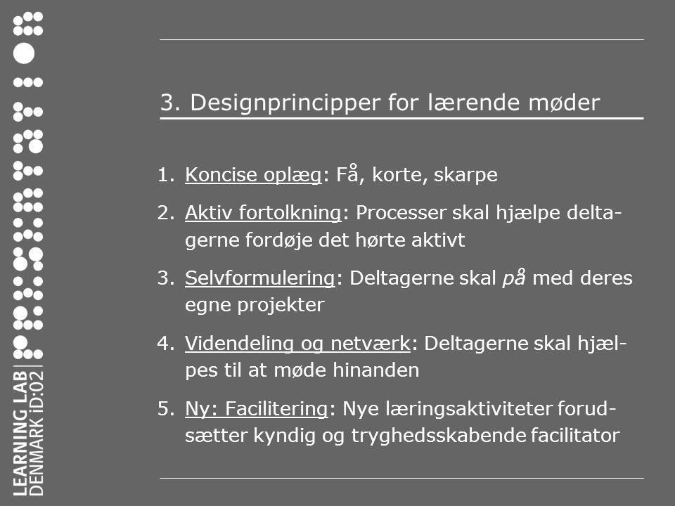3. Designprincipper for lærende møder