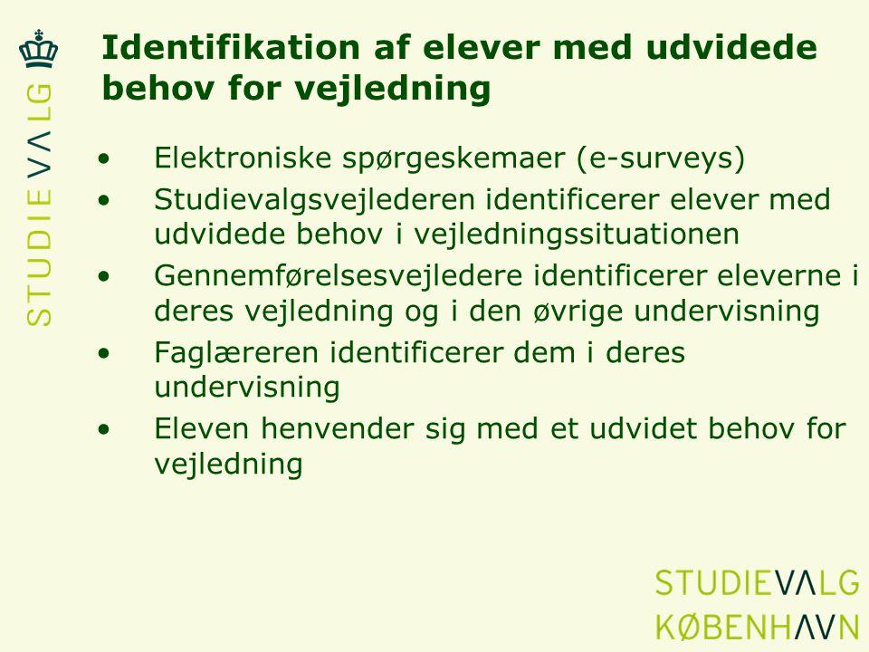 Identifikation af elever med udvidede behov for vejledning