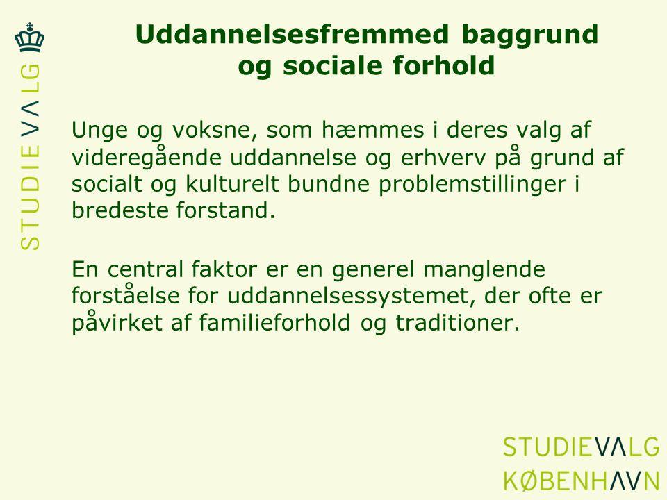 Uddannelsesfremmed baggrund og sociale forhold