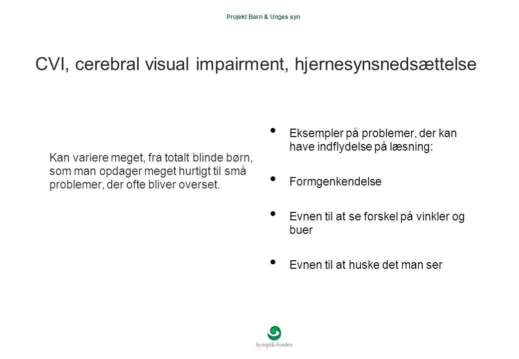CVI, cerebral visual impairment, hjernesynsnedsættelse