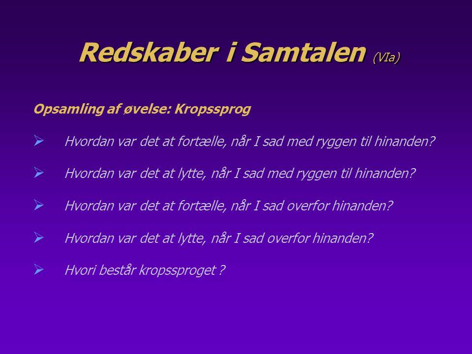 Redskaber i Samtalen (VIa)