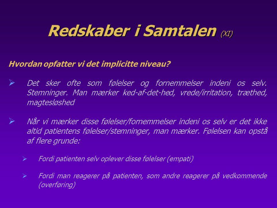 Redskaber i Samtalen (XI)