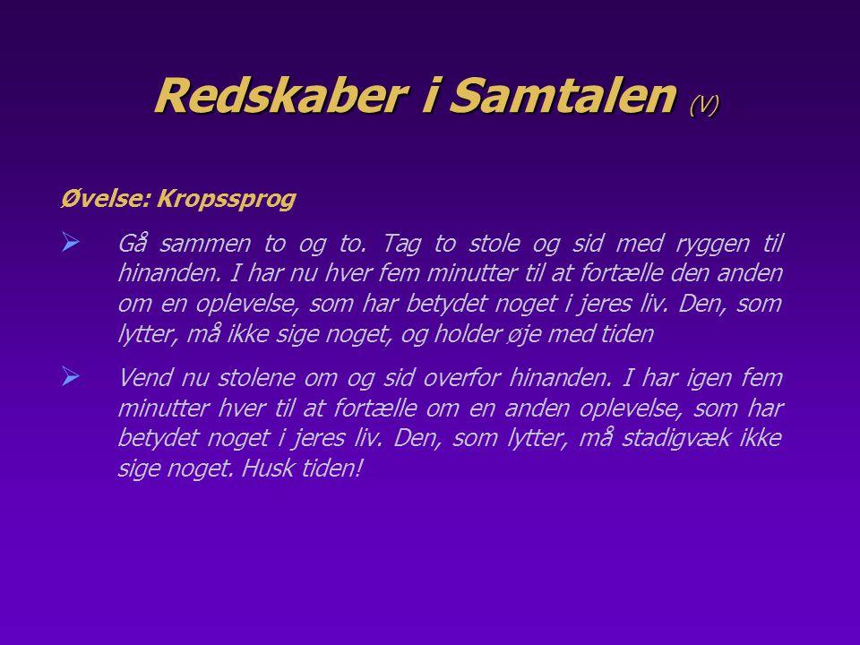 Redskaber i Samtalen (V)