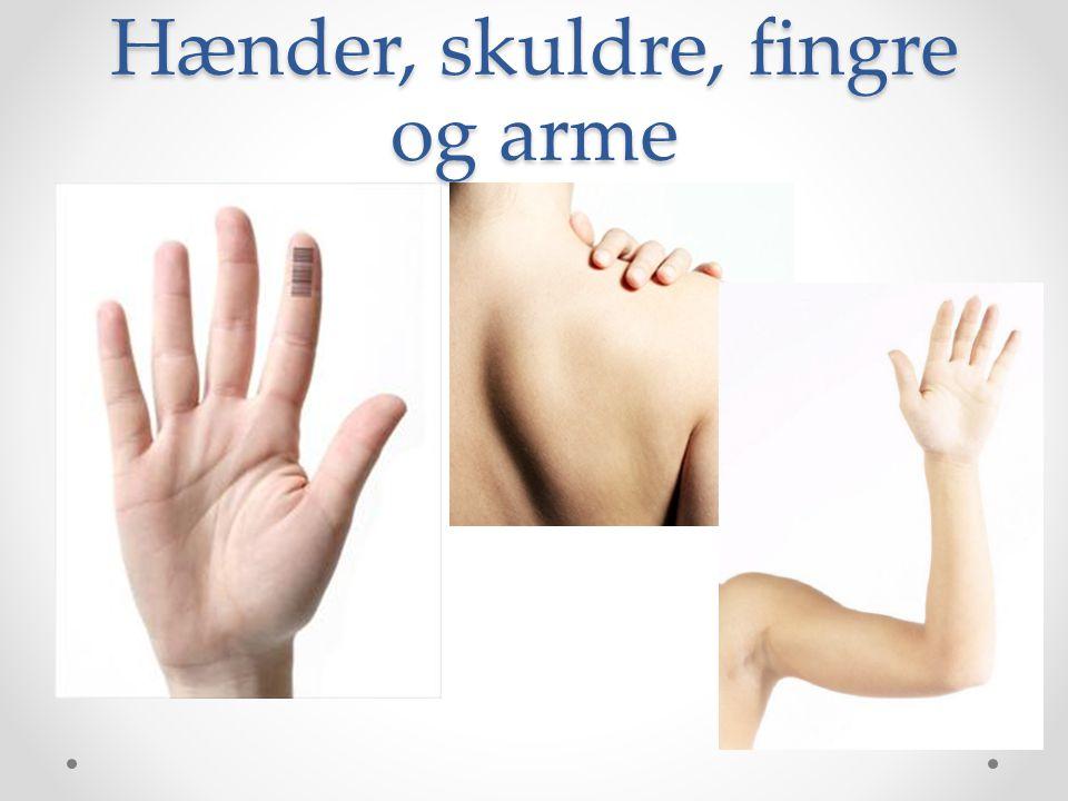 Hænder, skuldre, fingre og arme