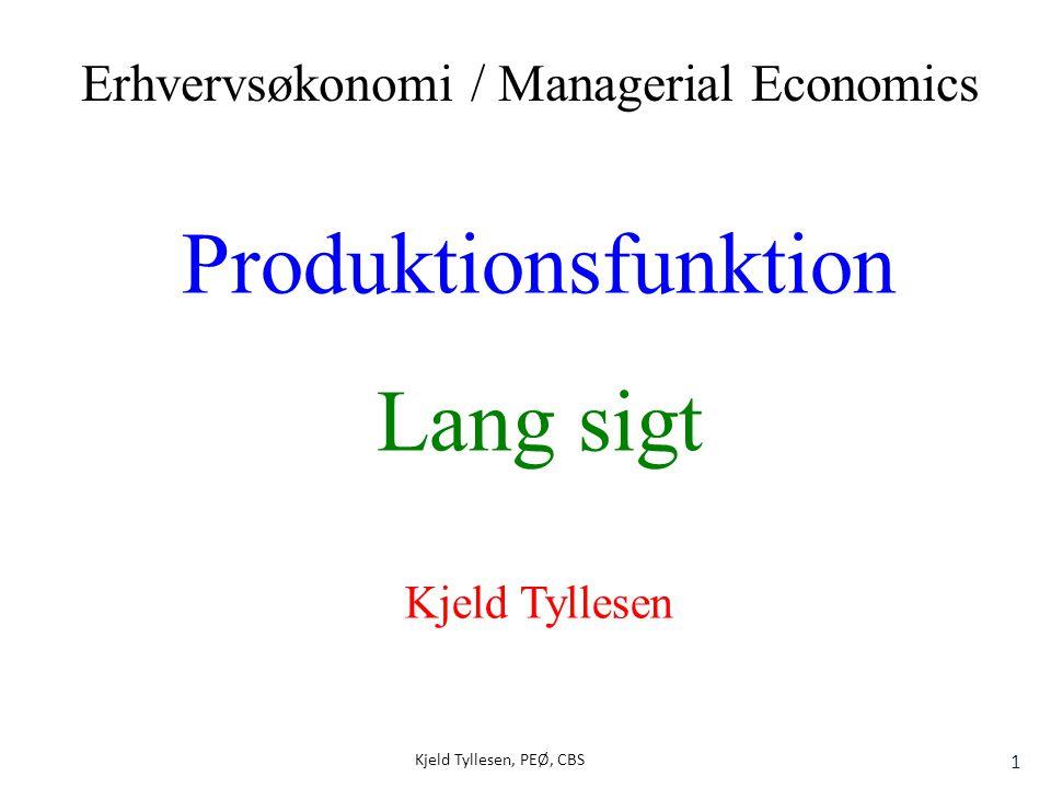 Produktionsfunktion Lang sigt Erhvervsøkonomi / Managerial Economics