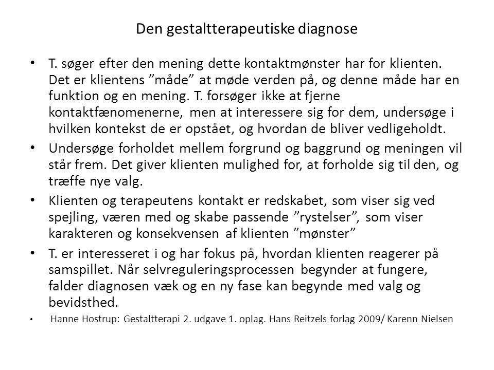 Den gestaltterapeutiske diagnose