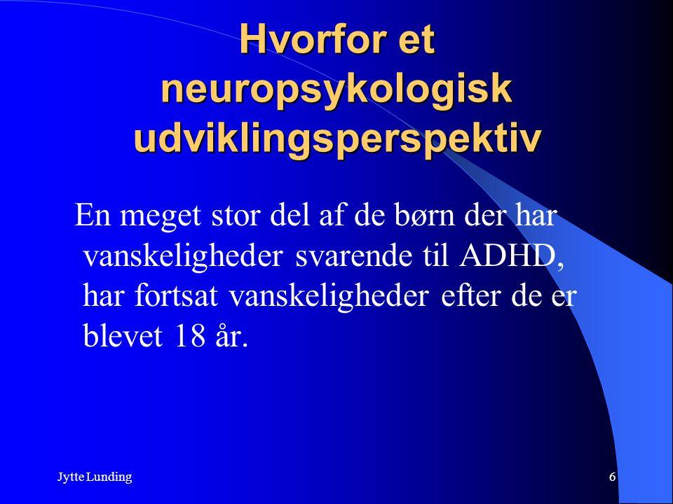 Hvorfor et neuropsykologisk udviklingsperspektiv