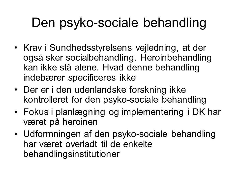 Den psyko-sociale behandling