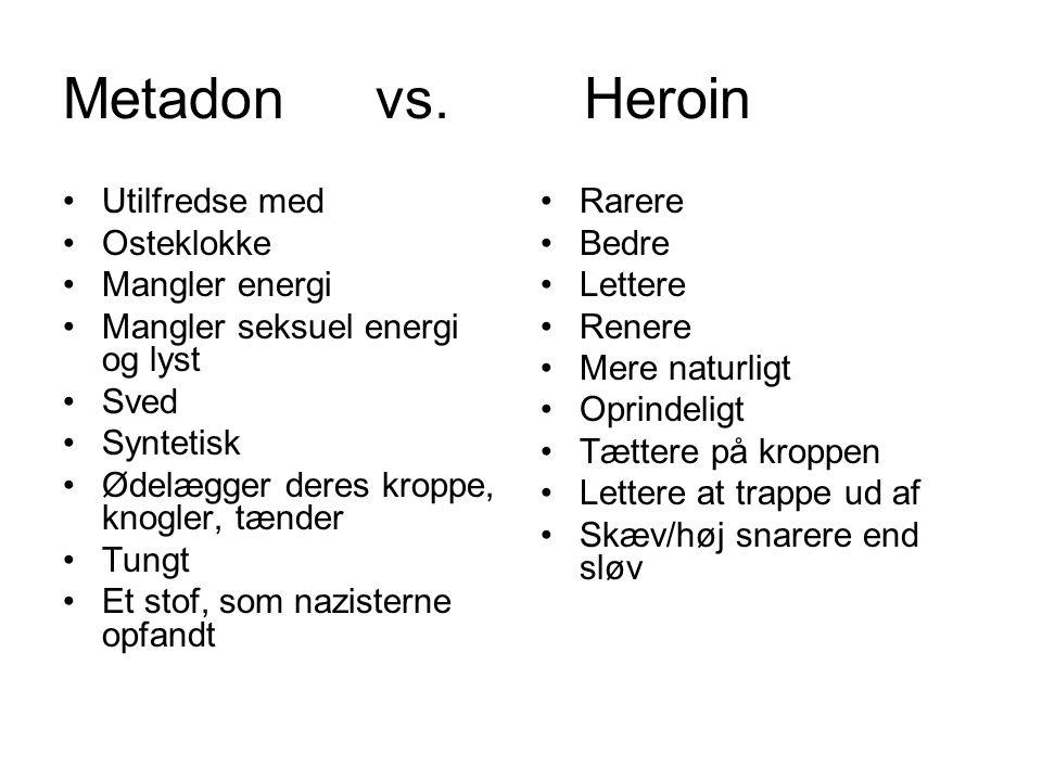 Metadon vs. Heroin Utilfredse med Osteklokke Mangler energi