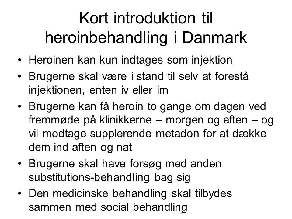 Kort introduktion til heroinbehandling i Danmark