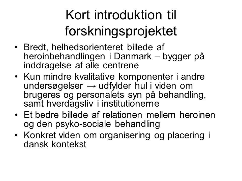 Kort introduktion til forskningsprojektet