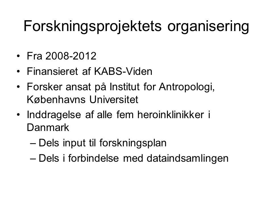 Forskningsprojektets organisering