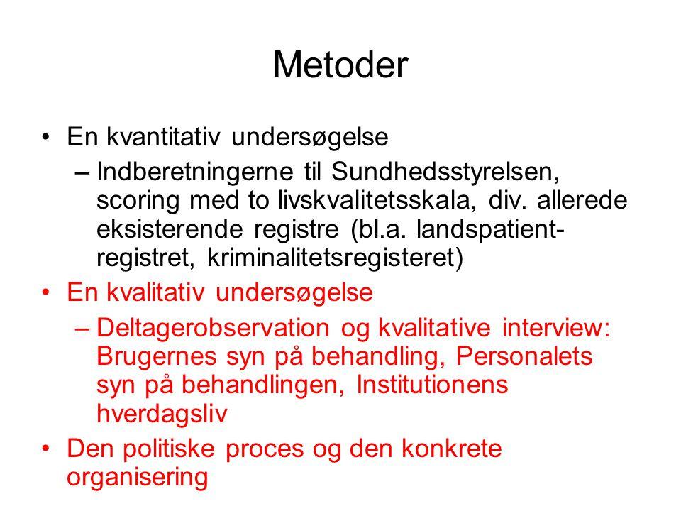 Metoder En kvantitativ undersøgelse