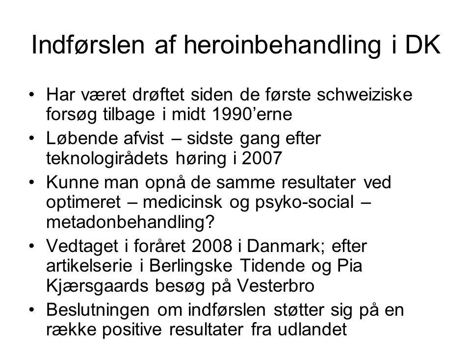 Indførslen af heroinbehandling i DK
