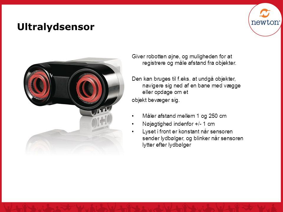 Ultralydsensor Giver robotten øjne, og muligheden for at registrere og måle afstand fra objekter.