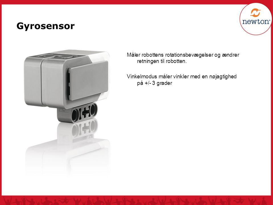 Gyrosensor Måler robottens rotationsbevægelser og ændrer retningen til robotten.