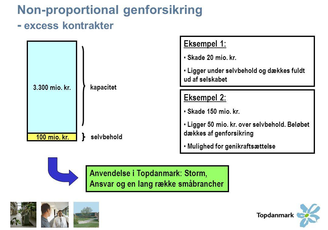 Non-proportional genforsikring - excess kontrakter