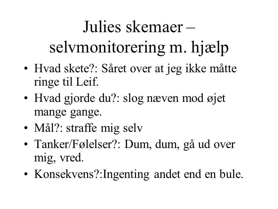 Julies skemaer – selvmonitorering m. hjælp