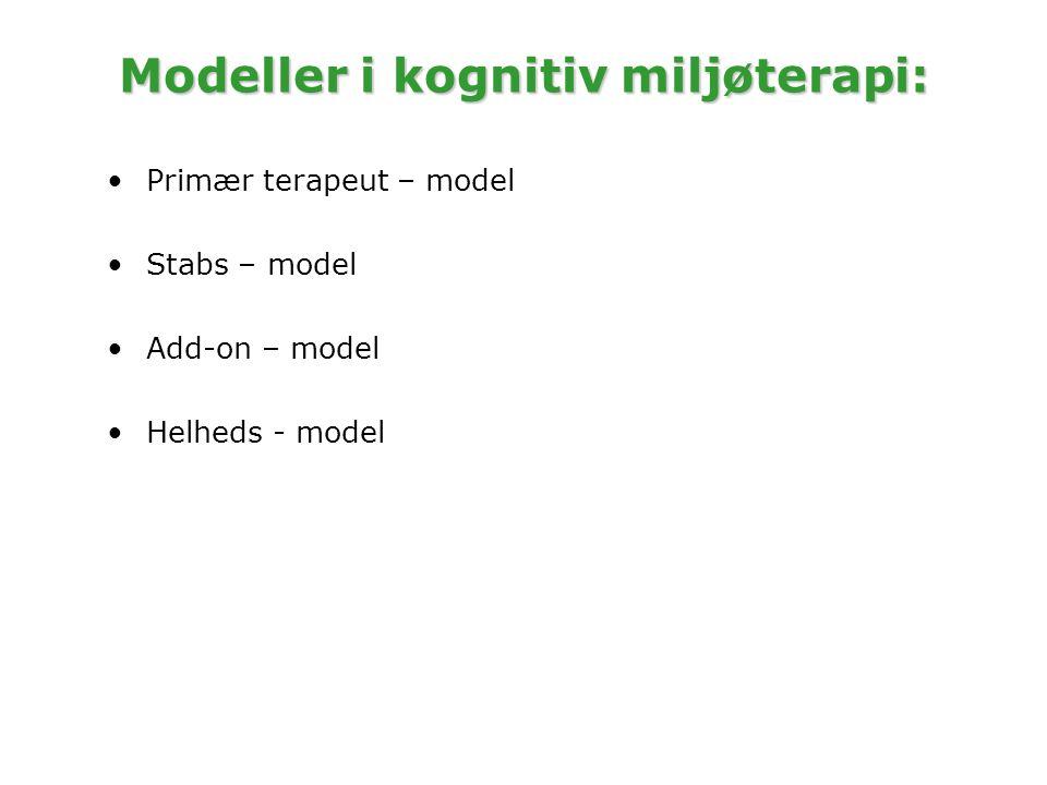Modeller i kognitiv miljøterapi:
