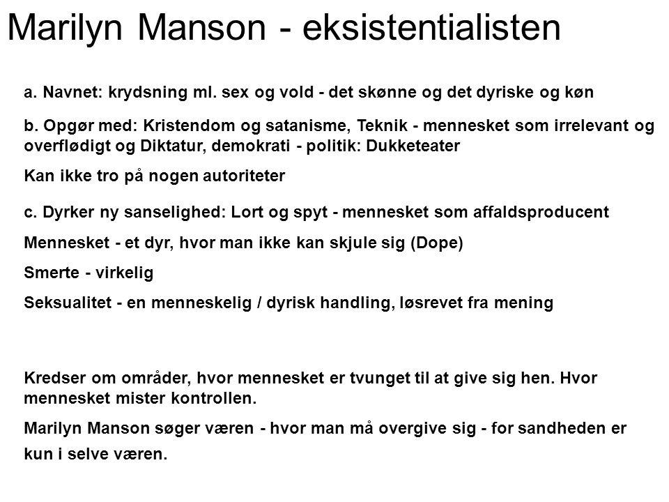Marilyn Manson - eksistentialisten