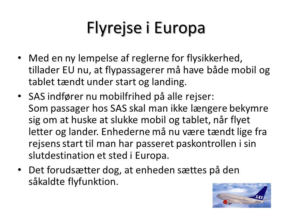 Flyrejse i Europa
