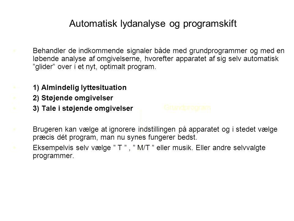 Automatisk lydanalyse og programskift
