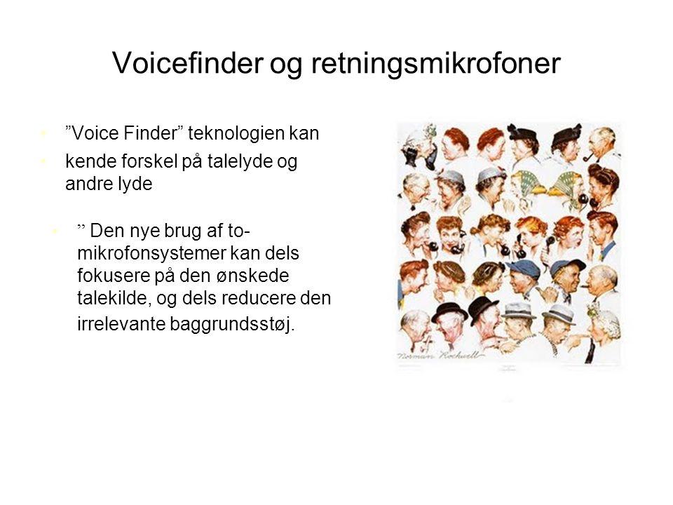 Voicefinder og retningsmikrofoner