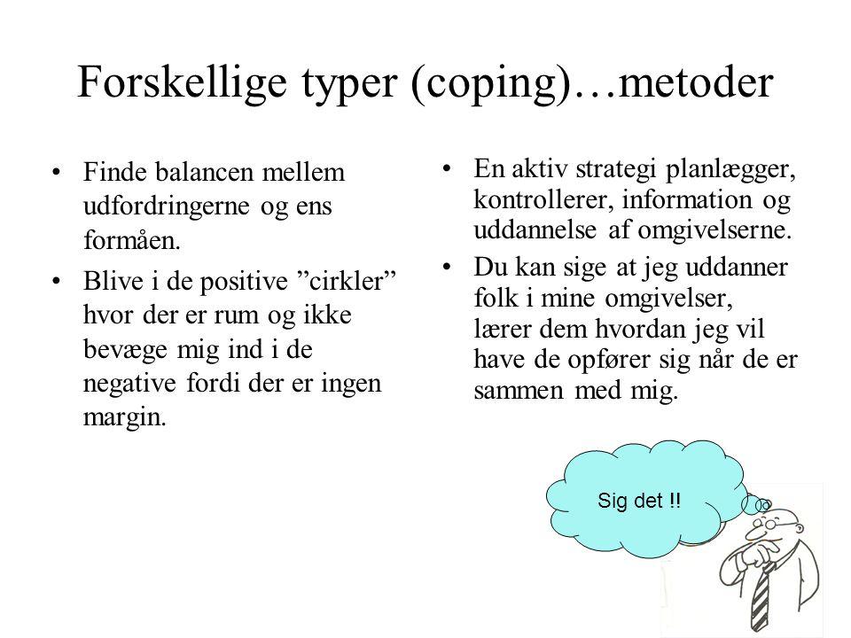 Forskellige typer (coping)…metoder