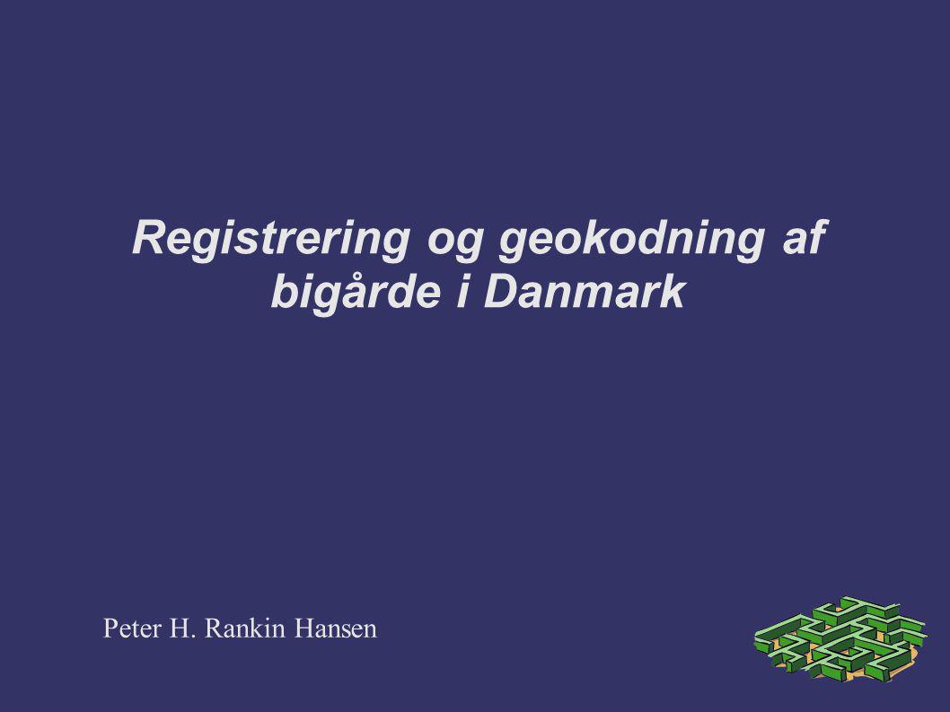 Registrering og geokodning af bigårde i Danmark