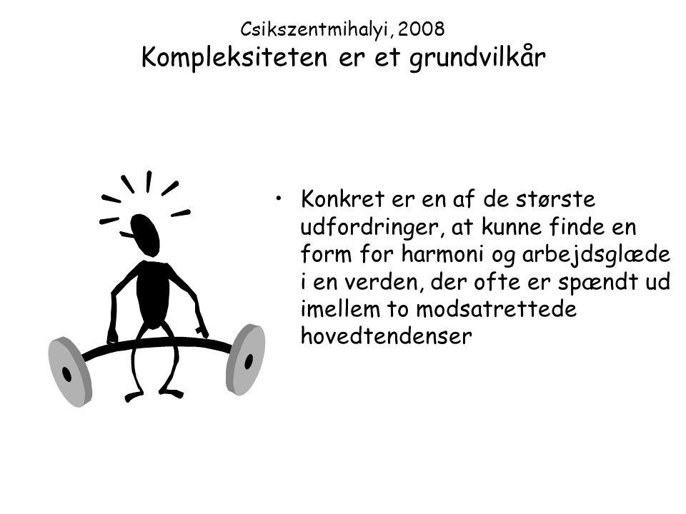 Csikszentmihalyi, 2008 Kompleksiteten er et grundvilkår