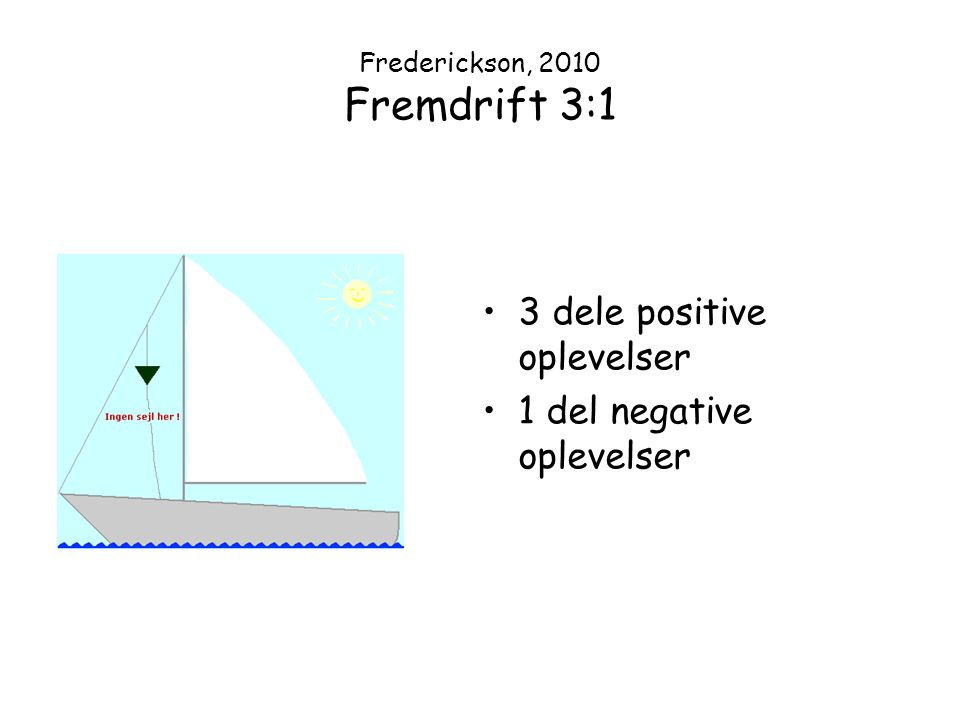 Frederickson, 2010 Fremdrift 3:1