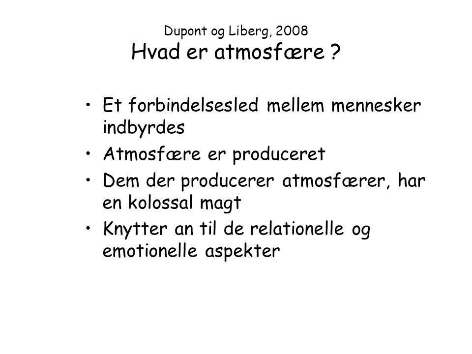 Dupont og Liberg, 2008 Hvad er atmosfære
