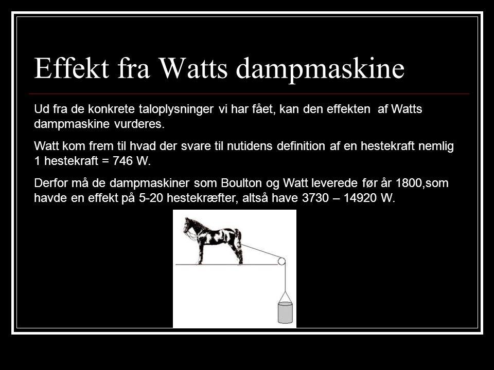 Effekt fra Watts dampmaskine