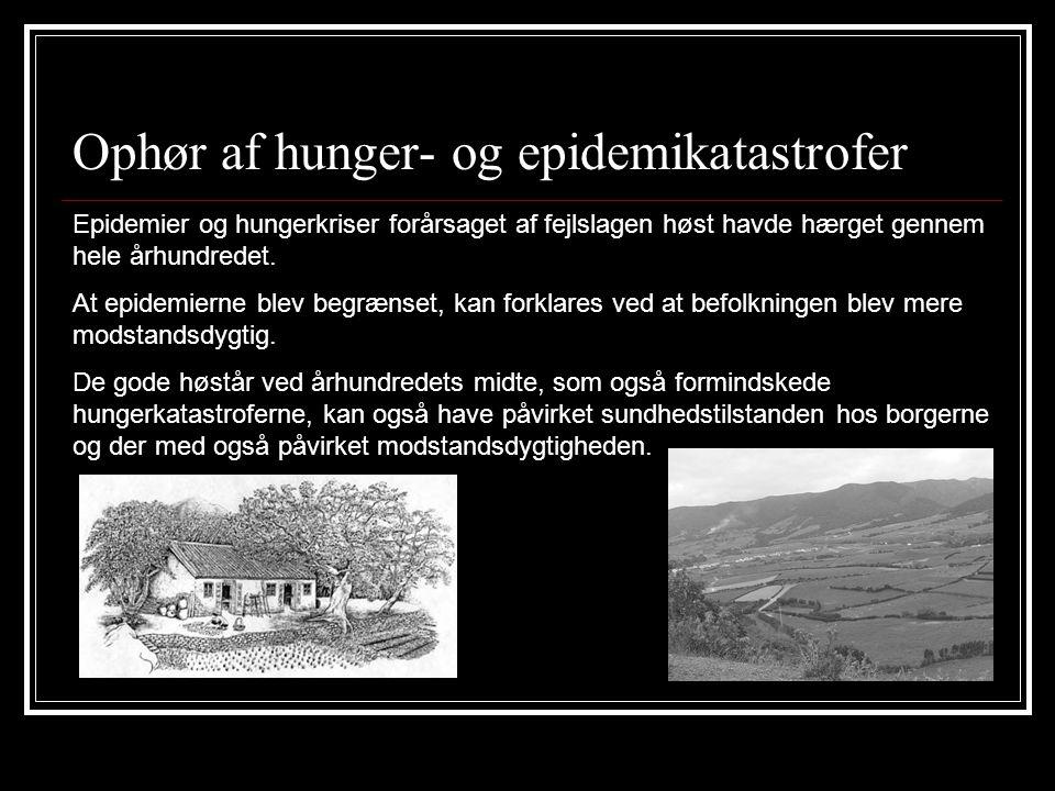 Ophør af hunger- og epidemikatastrofer