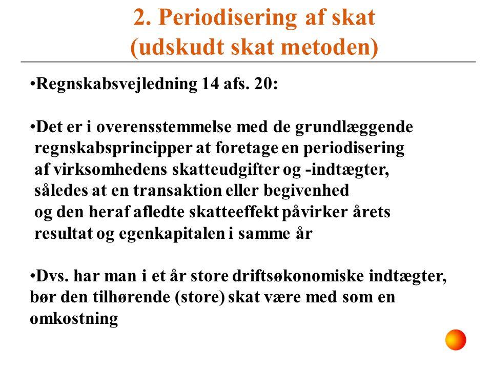 2. Periodisering af skat (udskudt skat metoden)